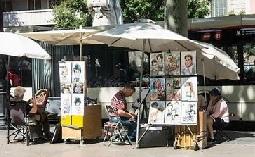 巴塞罗那兰布拉大街绘画摊位.jpg